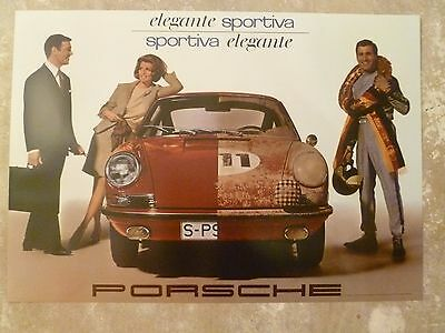 1967 Porsche 911 Coupe Showroom Advertising Sales Poster Awesome RARE!! Reprint