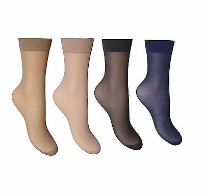 e2fa4d1717f 12 PAIRS LADIES Trouser Socks Knee High Pop Tights 80 Denier Adults ...