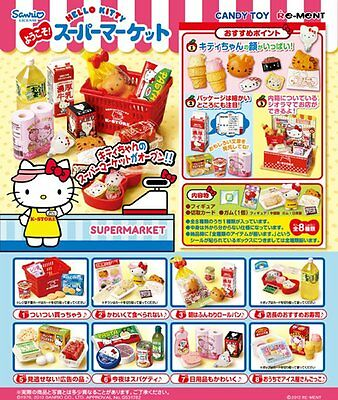 Re-ment Miniature Welcome! Hello Kitty Supermarket Full Set of 8 Japan