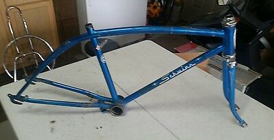 1966 Schwinn Stingray Fastback 5 Speed Frame And Fork Sky Blue Nice L$$K!!!