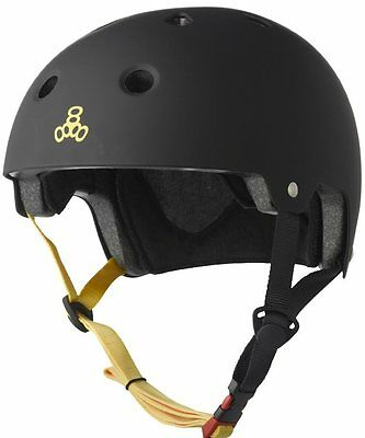 Triple8 Brainsaver EPS Protective Rubber Black Helmet Skate/BMX L/XL