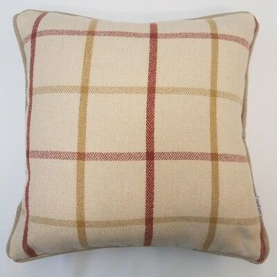 """Luxury Natural Beige Scottish Tartan Thick Wool Mix 18"""" Cushion Cover £4.99 Each"""
