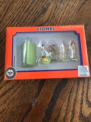 LIONEL VINTAGE BOY SCOUTS OF AMERICA PEOPLE PACK figures O gauge pewter 6-37828