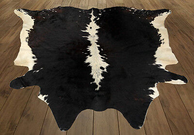 """New cowhide hairon rug Area Natural cow skin leather hide(63""""x61""""= 26 SF) T9"""