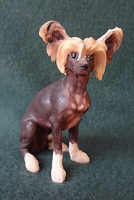 CHINESE CRESTED DOG FIGURINE Dateds 2000