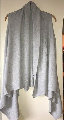 GAP MATERNITY Gray Cascade Cotton Dress/Casual Cardigan Sweater. Size- S. NWOT.