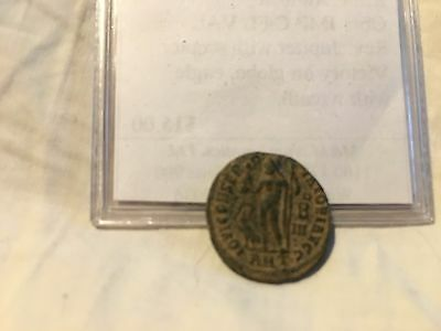 Ancient Roman Coin Constantine + Jupiter with Scepter, Eagle, 308-337 AD