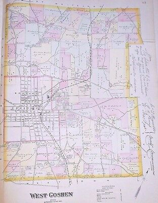 WEST GOSHEN CHESTER COUNTY PA. 1883 MAP CHESTER with WEST CHESTER, WESTTOWN etc.