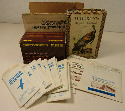 Audible Audubon Birdsong Bundle Microphongraph Cards Vtg. Birds Of America Book