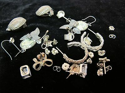 Mixed Lot of Sterling Silver .925 of Earrings 30Grams