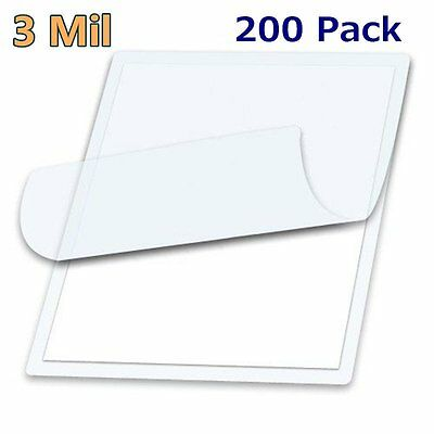 """3 Mil Letter Size Thermal Laminating Pouches 200 - 9"""" x 11.5"""" Sheet Free Carrier"""