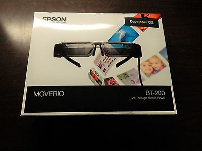Epson Moverio BT-200 See-Through Mobile Viewer Smart Glasses Excellent!