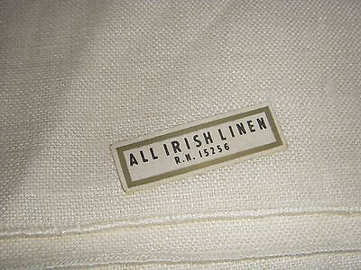 "VTG Vintage IRISH LINEN Tablecloth, 52"" × 52"" NWT never used! First Lady brand"