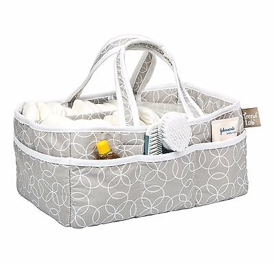 Diaper Caddy Trend Lab, Gray Nursery Organizer, Multiple Compartments, Pockets