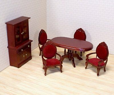 Melissa & Doug Solid Wood Dollhouse Dining Room Furniture Set BRAND NEW & Boxed
