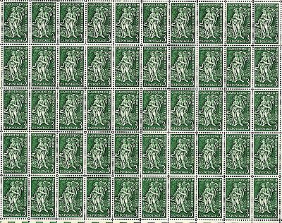 1958 - GARDENING & HORTICULTURE - #1100 Full Mint Sheet of 50 Postage Stamps