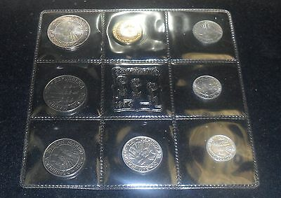 Gem Mint 1974 San Marino 8 piece Insect Set-includes 1 silver 500 Lire ENN COINS