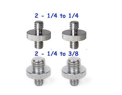4 Pcs 1/4 - 1/4 & 1/4 - 3/8Male Threaded Screw Converter Adapter for Camera Cage