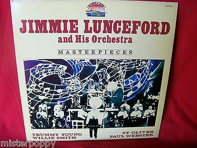 JIMMIE LUNCEFORD Masterpiece 1939/1944 JAZZ LP 1984 ITALY MINT- Unique Art Cover