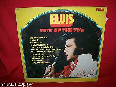 ELVIS PRESLEY Hits of the 70's LP 1975 ITALY MINT-