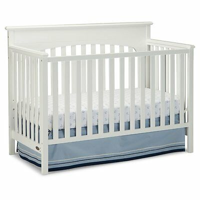 Graco Lauren 4-in-1 Convertible Crib, White