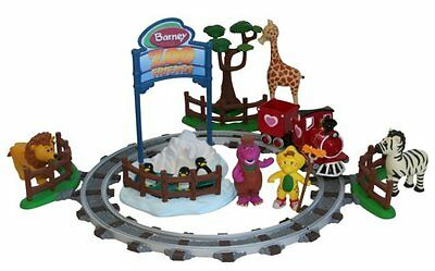 BARNEY AND FRIENDS ZOO PLAYSET VERY RARE COLLECTIBLE BRAND NEW (see description