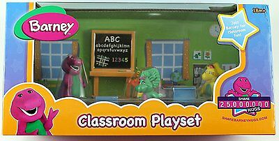 Barney & Friends Classroom Playset Very Rare Collectible Brand New