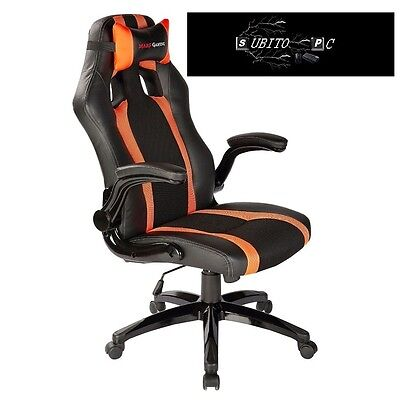 Mars Gaming Gaming Chair 2 Sedia Gaming MGC2BO colorazione Deep Black and Orange
