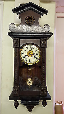 Vintage Small Vienna Wall Clock with a Musical Hour Chime