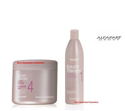 ALFAPARF LISSE DESIGN Keratin Therapy-Hair Mask&Deep Cleansing Shampoo