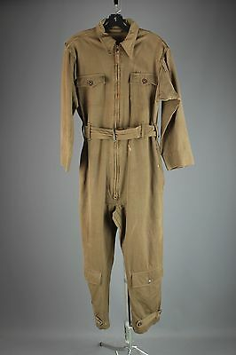 Vtg WWII USAAF AN-S-31 US Army Air Force Summer Flying Suit sz S 36 WW2 40s 3111