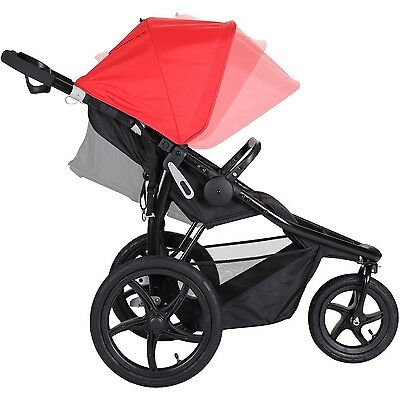 Baby Trend Stealth Jogger Stroller Cardinal Infant Buggy Carriage All-Terrain