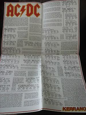 AC/DC Angus Young & Family Tree Large Fold Out Poster British Kerrang Metal Mag