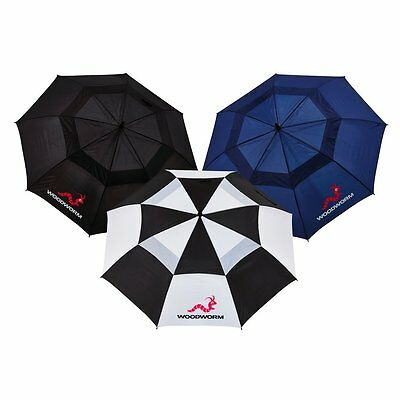 Woodworm Golf Premium Double Canopy Golf Umbrella 3 Pack