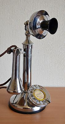 Candlestick Phone GEC - Chrome/Silver - Heavy. Nice condition