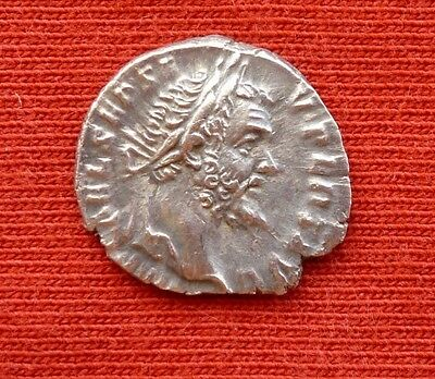 Septimius Severus Silver Denarius 18 mm, Virt Avg , Virtus Ancient coin