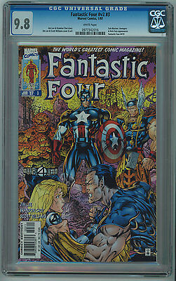 Fantastic Four Vol. 2 #3 (#419) Cgc 9.8 Jim Lee Art White Pages 1997