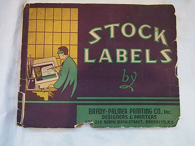 Vintage Stock Labels Booklet Brooklyn New York