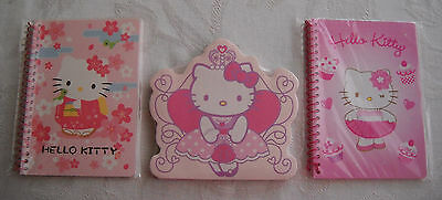 Lot of 3 Hello Kitty Notebooks and Note Pad by Sanrio