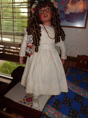 """Kathy Smith Fitzpatrick 30"""" Doll on Stand....Vintage"""