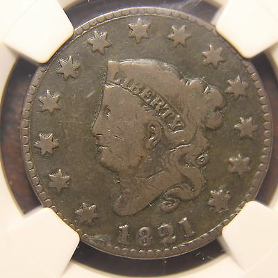 1821 Coronet Head Large Cent, N-2