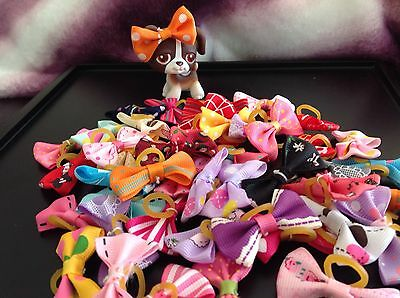 LPS Littlest Pet Shop Random Lot 8 Handmade 🇨🇦 Dogs Cats Doll Accessories Bows