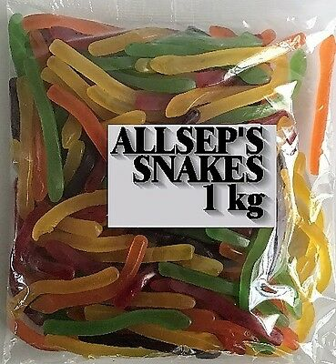 Allseps Snakes 1kg Sweets Party Favors Lollies Candy Buffet Allsep's Australian