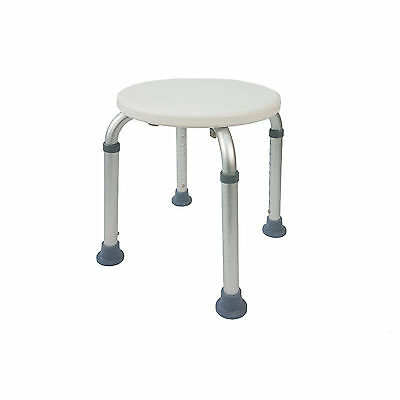 Round Stool Bath Bench Adjustable Height, Aluminium Frame