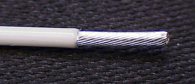 """10 AWG 37 SRAND TYPE """"EE"""" TEFLON WIRE M22759/9 10 feet SILVER PLATE MIL-SPEC"""