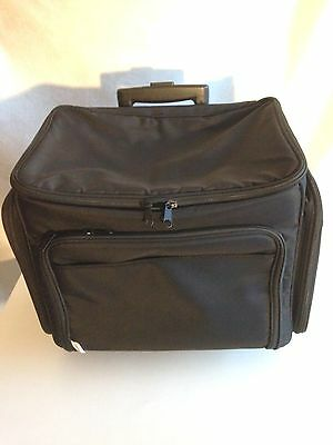 Everything Mary Scrapbooking Rolling Tote Craft Organizer Luggage NWOT
