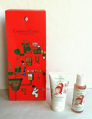 Crabtree and Evelyn - Pomegranate Body lotion 50ml, Shower gel 50ml - gift bag