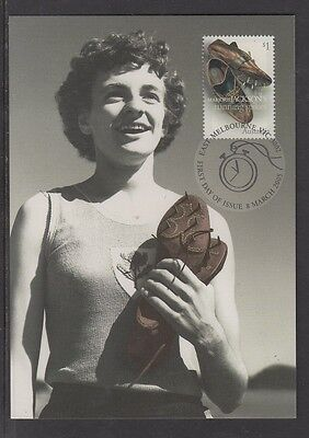 "Australian ""Sporting Treasures"" Maxicard - Marjorie Jackson's 'Running Shoes'"