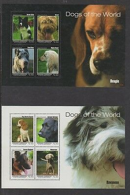 """Dogs of the World"" - 2011 Grenada Carriacou & Petite Martinque (2 Sheetlets)"