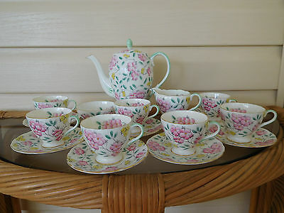"Foley ""Springdale"" 18 Piece Coffee Set 2600 Made In England 1930s"